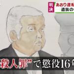 あおり運転|中村精寛(あきひろ)裁判判決「殺人罪」懲役16年(顔画像)大学生死亡